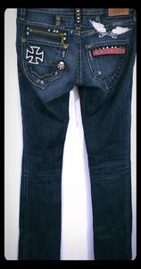 ROBIN'S JEAN 'Rock N Roll' Skinny Embroidered 26